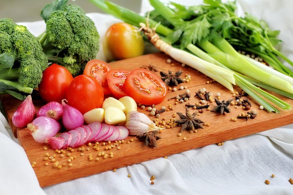 Alkaline foods: onions tomatoes, celery